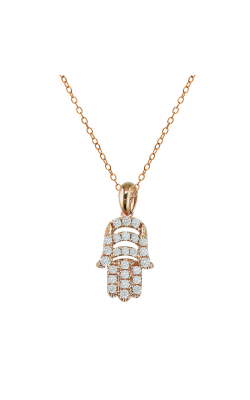 Odelia Diamond Hamsa Pendant With Chain APD-7409 product image