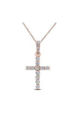 Odelia Diamond Cross Pendant With Chain ACR-13037 product image