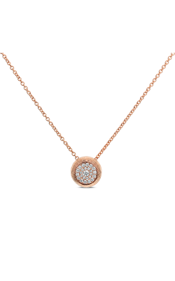 Odelia Round Cluster Diamond Pendant With Chain ANK-13608 product image