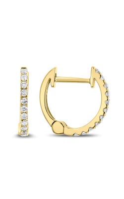 Odelia Diamond Round Hoop Earrings AER-8688 product image