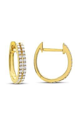 Odelia Diamond Double Row Hoop Earrings AER-9838 product image