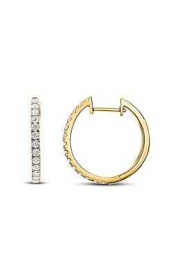 Odelia Diamond Round Hoop Earrings AER-5783-A product image