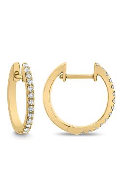 Odelia Diamond Round Hoop Earrings AER-12654 product image