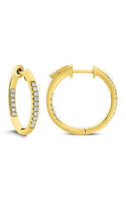 Odelia Diamond Round Shape Hoop Earrings AER-14729 product image