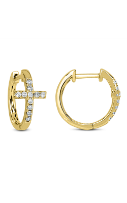 Odelia Diamond Cross Hoop Earrings AER-7458 product image