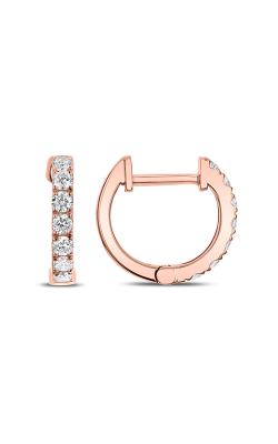 Odelia Diamond Round Hoop Earrings AER-8857 product image