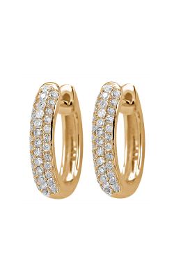 Odelia Diamond Three Row Hoop Earrings AER-9839 product image