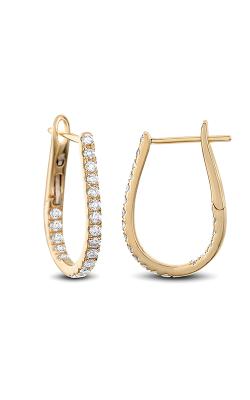 Odelia Diamond Oval Hoop Earrings AER-13947 product image