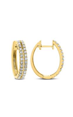 Odelia Diamond Double Row Hoop Earrings AER-12695 product image