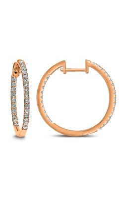 Odelia Diamond Inside Outside Hoop Earrings AER-9832 product image