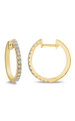 Odelia Diamond Round Hoop Earrings AER-12655 product image