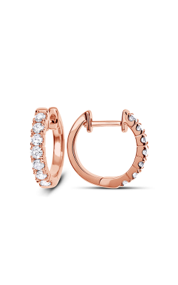 Odelia Diamond Round Hoop Earrings AER-4846 product image