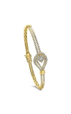 Odelia Diamond Small Oval Bangle ALB-14675 product image