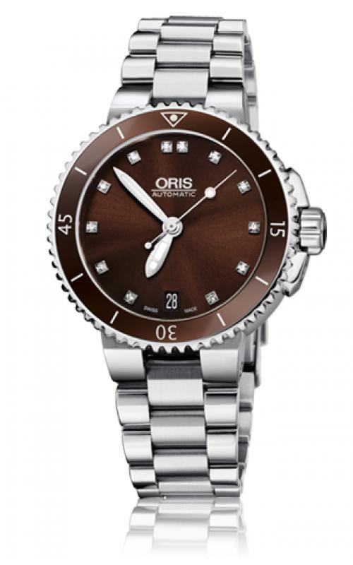 Oris Diving Aquis Date Diamonds Watch 01 733 7652 4192-07 8 18 01P product image
