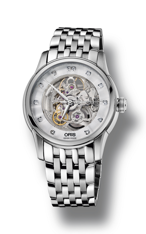 Oris Culture Artelier Skeleton Diamonds Watch 01 734 7670 4019-07 8 21 77 product image