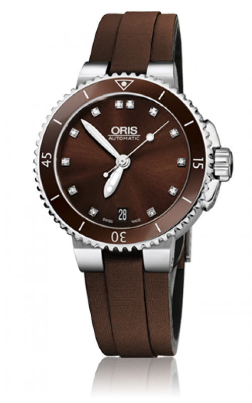 Oris Diving Aquis Date Diamonds Watch 01 733 7652 4192-07 5 18 12FC product image