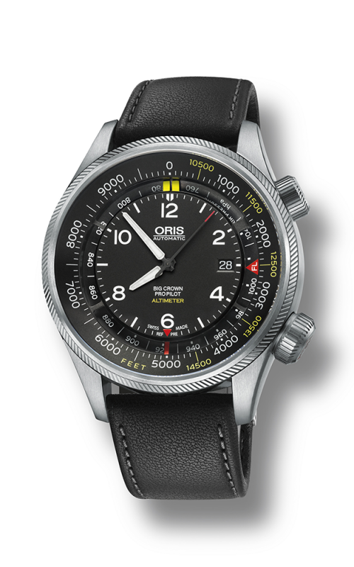 Oris Aviation Big Crown ProPilot  Altimeter with Feet Scale Watch 01 733 7705 4134-07 5 23 19FC product image