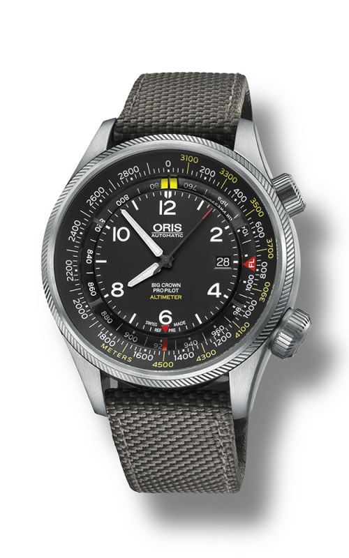 Oris Aviation Big Crown ProPilot Altimeter with Meter Scale Watch 01 733 7705 4164-07 5 23 17FC product image