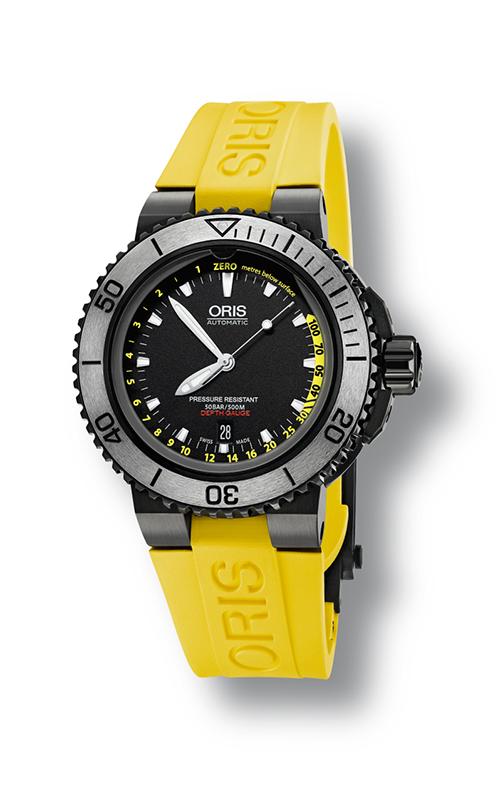 Oris Diving Aquis Depth Gauge Watch 733 7675 4754 4 26 34 BEB product image