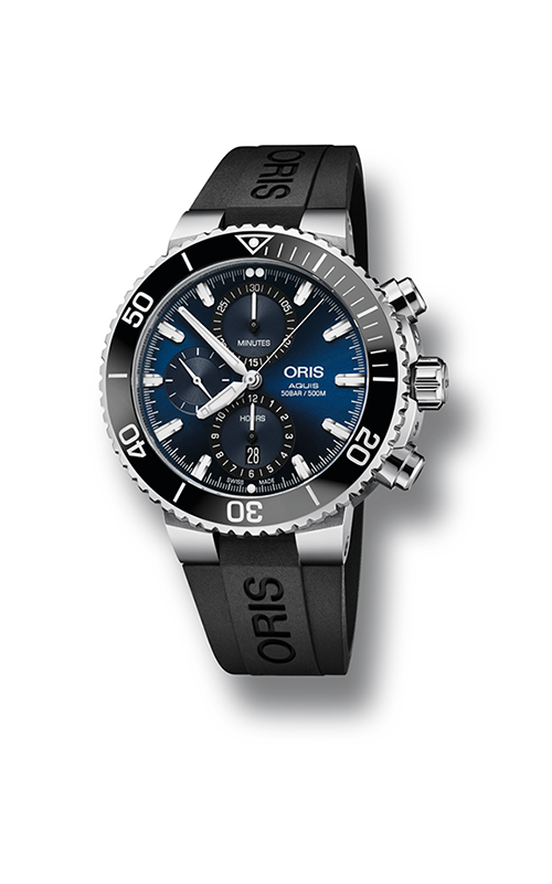 Oris Diving Aquis Chronograph Watch 01 774 7743 4155-07 4 24 64EB product image