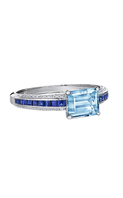 Oscar Heyman Platinum Aquamarine And Sapphire Cuff Bracelet 804379 product image