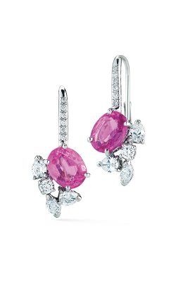 Oscar Heyman Platinum Pink Sapphire And Diamond Earrings 706403 product image