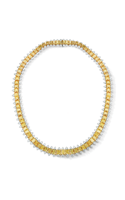 Oscar Heyman 18kt Gold & Platinum Exquisite Radiant Yellow Diamond Necklace 507806 product image