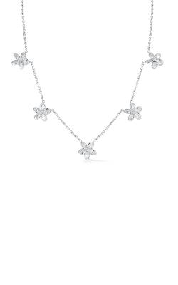 Oscar Heyman Platinum Diamond Five Station Flower Necklace 601940 product image