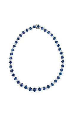 Oscar Heyman Platinum Sapphire And Diamond Necklace 601946 product image
