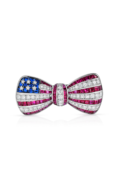 Oscar Heyman Platinum Flag Bow Brooch 200642 product image