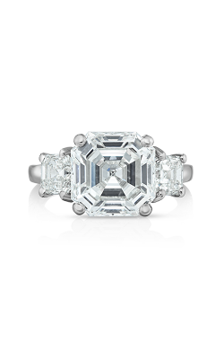 Oscar Heyman Platinum Asscher Cut Diamond Ring 301634 product image