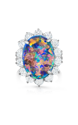 Oscar Heyman Platinum Black Opal Entourage Ring 302109 product image