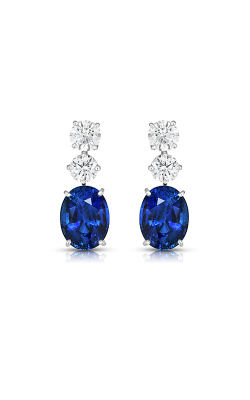 Oscar Heyman Platinum Sapphire & Diamond Earrings 706161 product image