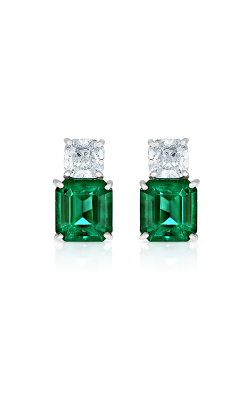 Oscar Heyman Platinum Emerald & Diamond Earrings 706299 product image
