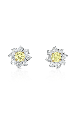 Oscar Heyman Gold & Platinum Fancy Intense Yellow Diamond Earrings 706310 product image