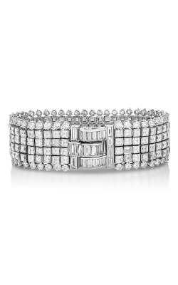 Oscar Heyman Platinum Invisiby Set Diamond Bracelet 804443  product image
