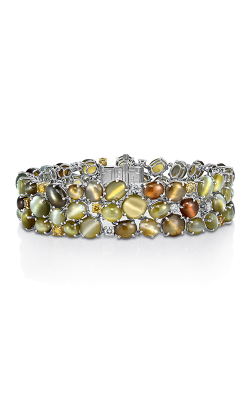 Oscar Heyman Gold & Platinum Cat's Eye Chrysoberyl Bracelet 804483 product image