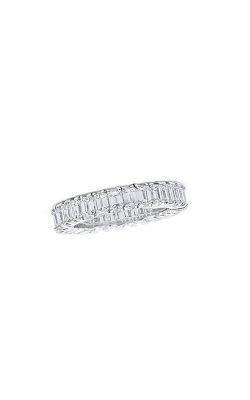 Oscar Heyman Platinum Square Diamond Guard Ring P3623  product image