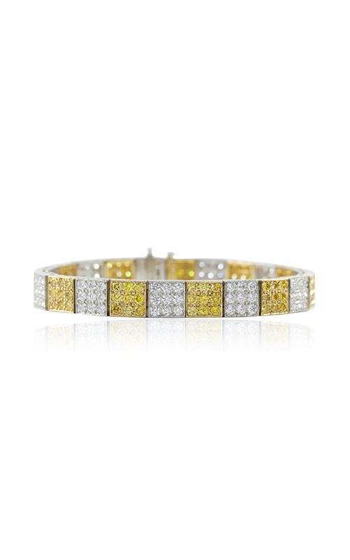 Oscar Heyman 18kt Gold & Platinum Yellow And White Diamond Block Bracelet 804160 product image