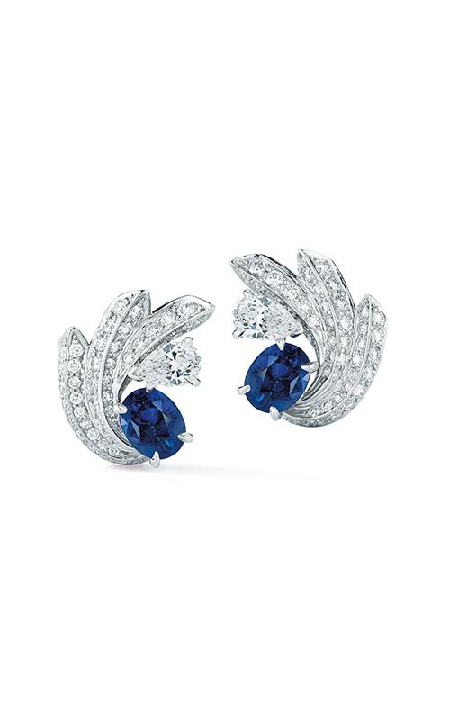 Oscar Heyman Platinum Sapphire And Diamond Starbburst Earrings 706388 product image