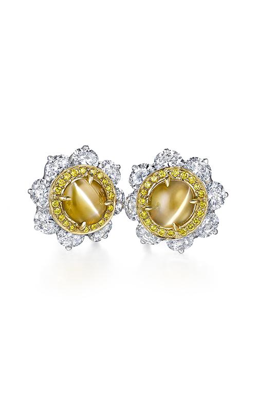 Oscar Heyman 18kt Gold & Platinum Cat's- Eye And Yellow Diamond Entourage Earrings 706508 product image
