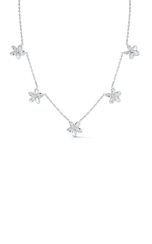 Oscar Heyman Platinum Diamond Five Station Flower Necklace 601940 product image