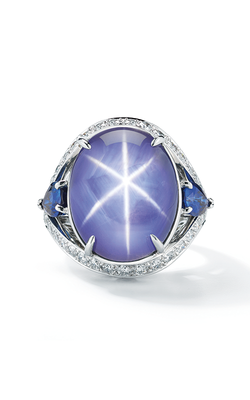 Oscar Heyman Platinum Star Sapphire And Sapphire Ring 302421 product image