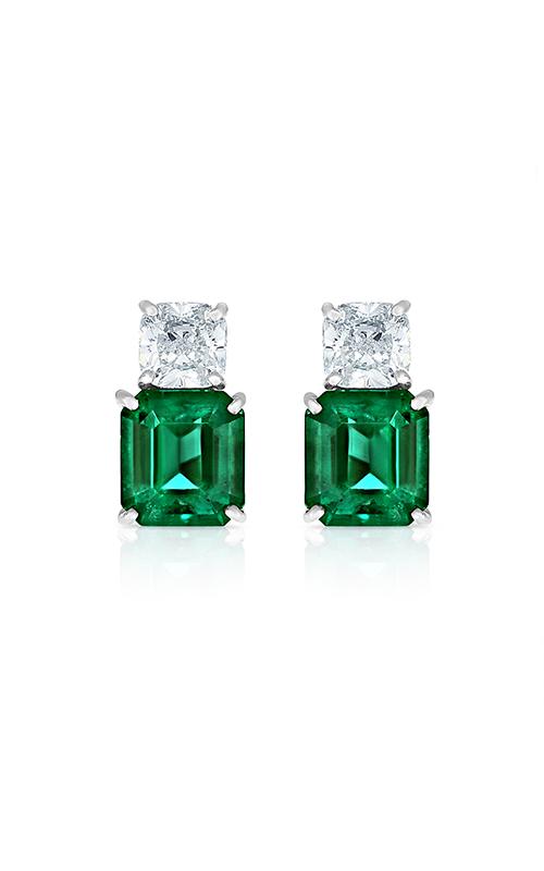 Oscar Heyman Platinum Emerald & Diamond Earrings 706299 product image