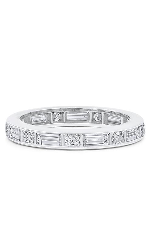 Oscar Heyman Platinum 3.00mm Baguette/Round Diamond Guard Ring W1895 product image