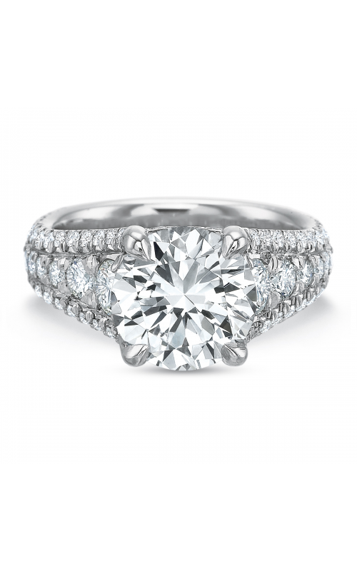 Precision Set Shared Prong Engagement ring 261718w product image