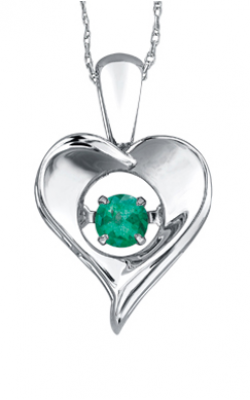 Pulse™ Emerald Solitaire Pendant PP3172/5C-SS product image