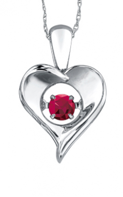 Pulse™ Ruby Solitaire Pendant PP3172/7C-SS product image