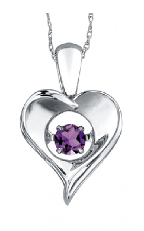 Pulse™ Amethyst Solitaire Pendant PP3172/2C-SS product image