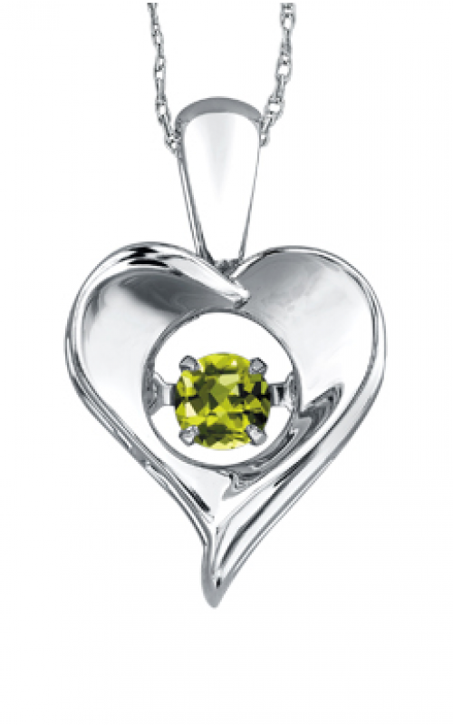 Pulse™ Peridot Solitaire Pendant PP3172/8C-SS product image